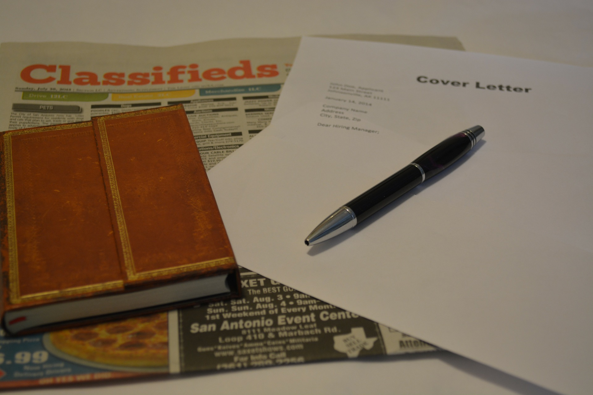 Sections of cover letter