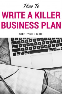 how to write a killer business plan