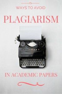avoid plagiarism in academic papers